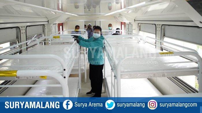 Gerbong Kereta Api Disiapkan Jadi Ruang Isolasi Covid-19 di Madiun, RSUD dan Asrama Haji Penuh