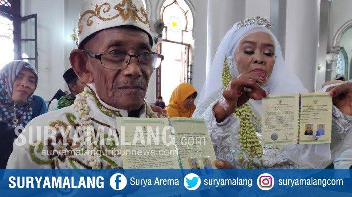Kakek Perjaka Usia 64 Tahun Ikuti Pernikahan Gratis Pemkab Tuban, Ngaku Baru Ketemu Jodoh