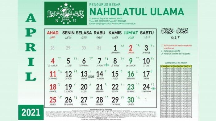 Kalender PBNU April 2021
