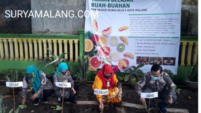 SDN Bunulrejo 6 Kota Malang Bakal Miliki Taman Belajar Buah-Buahan