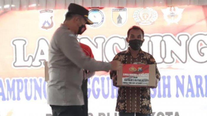 Polres Blitar Kota Tunjuk Kampung Seng Jadi Kampung Bebas Narkoba