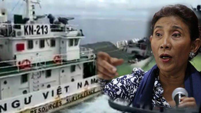 Detik-Detik Kapal Vietnam Tabrak KRI Viral, Menteri Susi Tenggelamkan Kapal Ikan Asing asal Vietnam