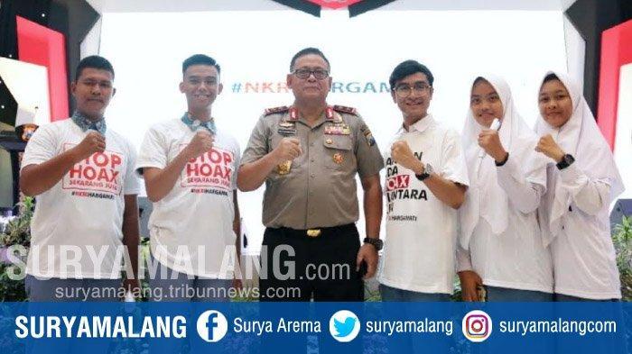 Generasi Milenial Pelajar Jawa Timur Gaungkan NKRI Harga Mati Di Polda Jatim