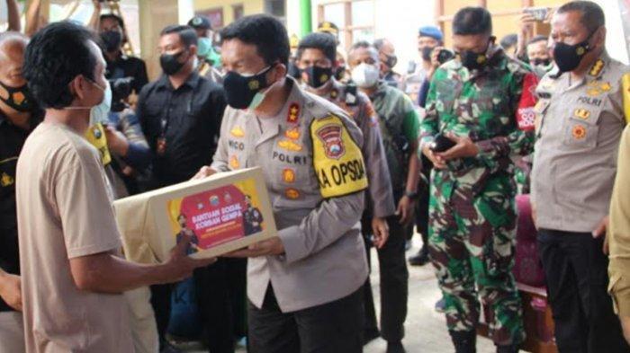 Kapolda Jatim Irjen Pol Nico Afinta Tinjau Korban Gempa di Malang