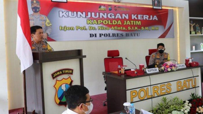 Kapolda Jatim Kunjungi Polres Batu, Ingatkan Anggota untuk Laksanakan Program Presisi Kapolri