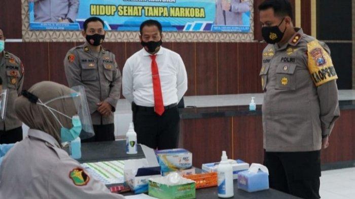 Cegah Penyalahgunaan Narkoba, 127 Personel Polres Blitar Kota Jalani Tes Urine