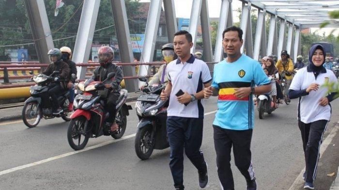 Jelang Pengamanan Pemilu, Kapolres Pasuruan Ajak Anggotanya Jaga Kebugaran Dengan Olah Raga