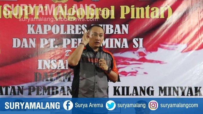 Kapolres Tuban Perintahkan Anggota Copot Tulisan Provokatif di Area Kilang Minyak