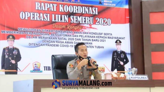 Kapolres Tuban AKBP Ruruh Wicaksono akan Bubarkan Kerumunan Warga saat Pergantian Tahun Baru 2021