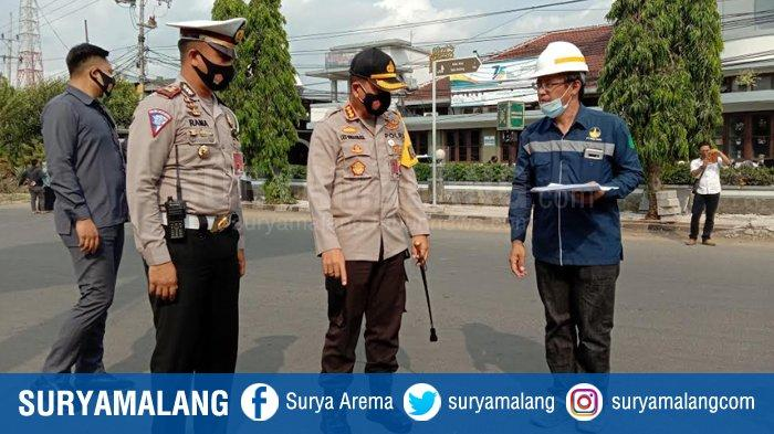 Rekayasa Lalu Lintas Efek Penutupan Jalan Basuki Rahmat, Kapolresta Malang Kota Siap Evaluasi