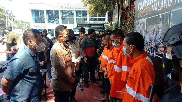 Satreskrim Polresta Malang Kota Ciduk Lima Tersangka Pengeroyokan Terhadap Mahasiswa