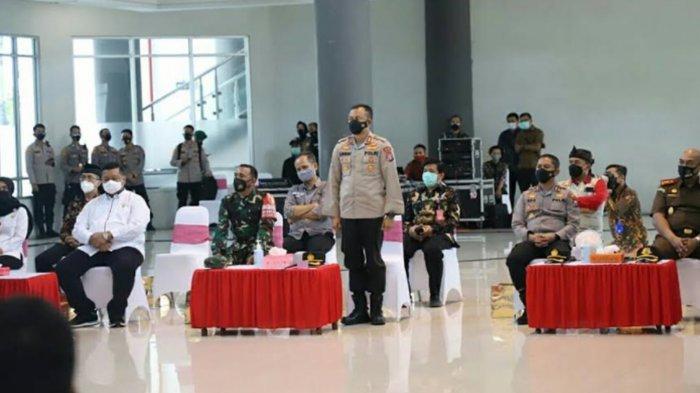 Kapolri Jenderal Listyo Sigit Minta Jajarannya untuk Perlancar Giat Penanganan Covid-19 di Kediri