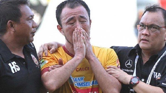 Pemain Sriwijaya FC Menangis Usai Kalah dari Persija Jakarta