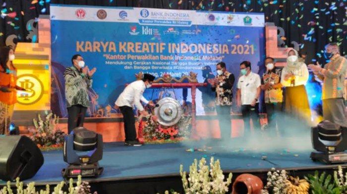 Buka Kembali Keran Ekonomi, Bank Indonesia Malang Gelar Pameran Karya Kreatif Indonesia KKI 2021