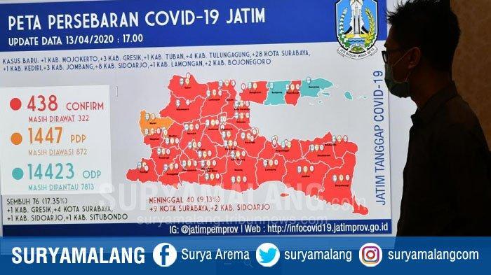 UPDATE Kasus Covid-19 Jatim, Ada 52 Kasus Positif Corona Baru, 28 Orang di Antaranya Warga Surabaya