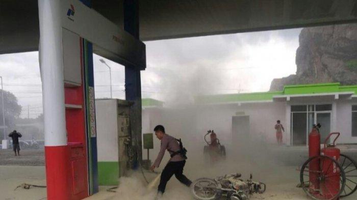 2 Motor Terbakar di SPBU Watulonggo Situbondo, Diduga Berasal dari Busi Tanpa Penutup