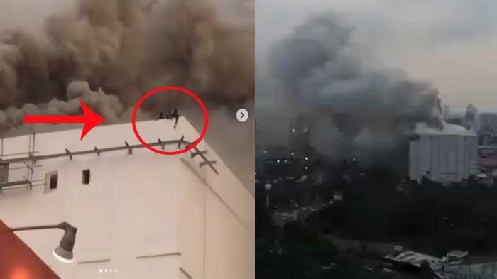 VIDEO - Detik - detik Terjadinya Kebakaran di Gedung JIEXPO, 4 Orang Terjebak di Atap Gedung!