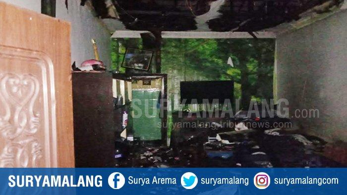 Dua Petak Rumah di Kidul Dalem Klojen Kota Malang Terbakar, 7 Unit Damkar Memadamkan Api