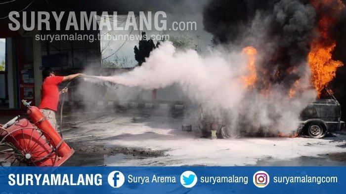 Kronologi Kebakaran Mobil Carry di SPBU Larangan Badung Pamekasan, Isi BBM Pakai Jeriken