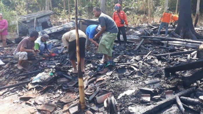 Ditinggal Kerja, Rumah Bambu Terbakar Habis di Wagir, Kabupaten Malang