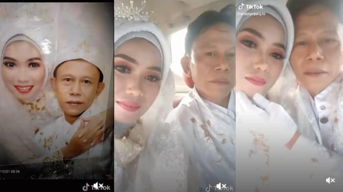 Kebersamaan pengantin wanita sebelum suaminya meninggal dunia