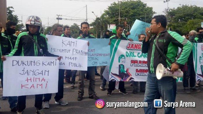 Driver Ojek Online Tuban Kecam Pernyataan Prabowo Subianto