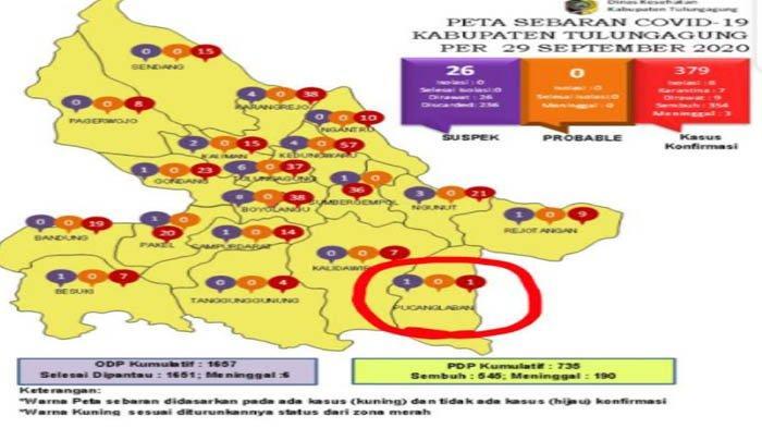 Jadi Zona Kuning Corona, 1 Warga Kecamatan Pucanglaban Tulungagung Terkonfirmasi Covid-19