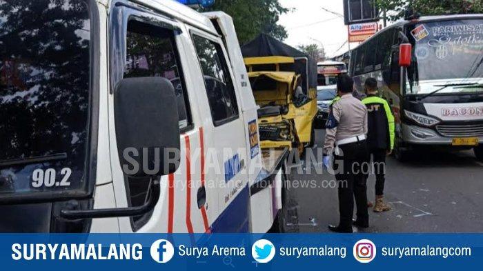 Kecelakaan Beruntun di Kota Malang, Akibat Kecepatan Tinggi, Truk Seruduk Dua Kendaraan