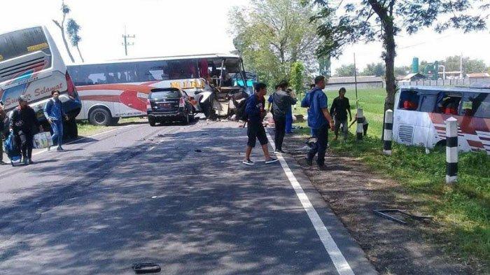 Tiga Bus Kecelakaan di Ngawi, Mobil DPRD Kabupaten Malang Terlibat, Ini Kronologinya
