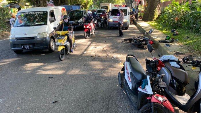 Hari Pertama Puasa, Dua Sepeda Motor di Kota Malang Terlibat Tabrakan 'Adu Banteng'