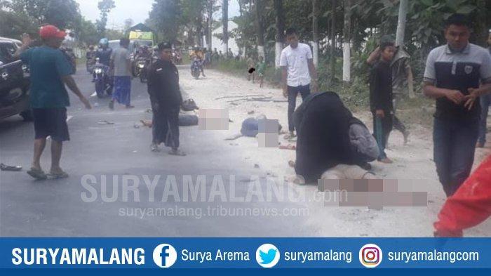 Kecelakaan Maut Mobil Bak Terbuka yang Angkut Orang di Jember, Terbalik dan Terguling Dua Kali