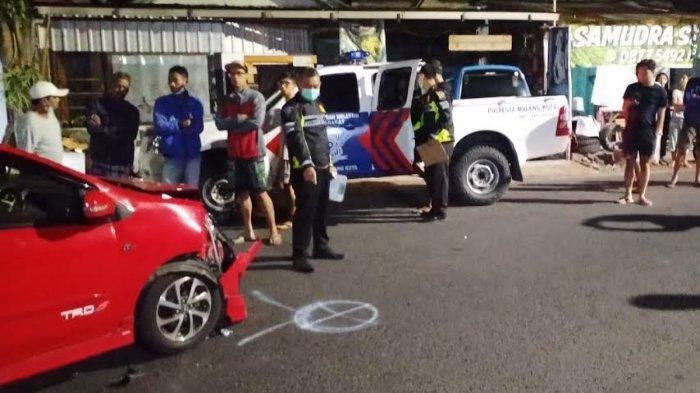 Kronologi Kecelakaan Motor Honda CB Vs Mobil Toyota Agya di Jalan Bungur, Kota Malang