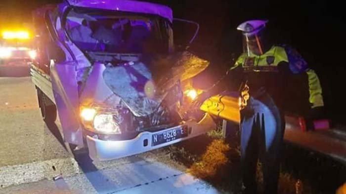 Pikap Warga Tumpang Malang Hantam Pantat Kendaraan Lain di Tol Ngawi-Solo, Sopir dan Penumpang Luka
