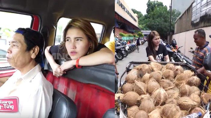 Ayu Ting Ting Naik Angkot Bayar Rp 250 ribu, Di Tengah Jalan Malah Dorong Gerobak Kelapa