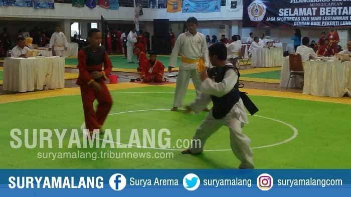 2.954 Pesilat Ikut Kejuaraan Malang Championship I di GOR Ken Arok, Kota Malang
