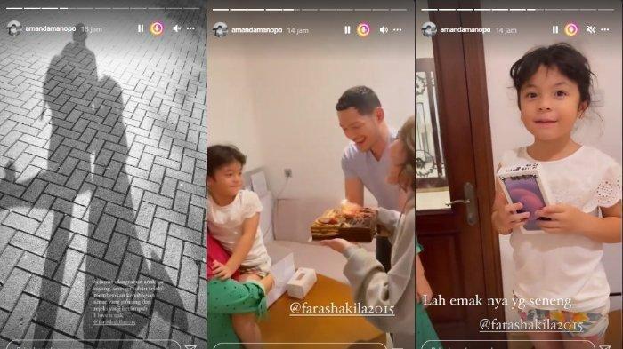 Kejutan ulang tahun Fara Shakila dapat hadiah iPhone dari Amanda Manopo