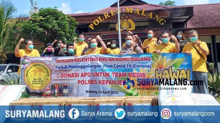 Yayasan Kelenteng Eng An Kiong Peduli Polisi di Malang Raya Cegah Corona, Beri Bantuan Ribuan APD