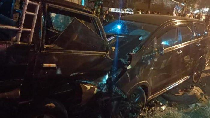 Ketua Bawaslu Jatim, Moh Amin Kecelakaan di Jalan Raya Desa Sejati, Sampang, Tabrak Motor dan Mobil