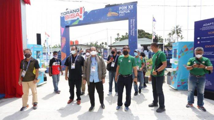 Tiba di Papua, Ketua KONI Jatim Erlangga Satriagung Acungi Jempol Kesiapan Tuan Rumah PON XX Papua