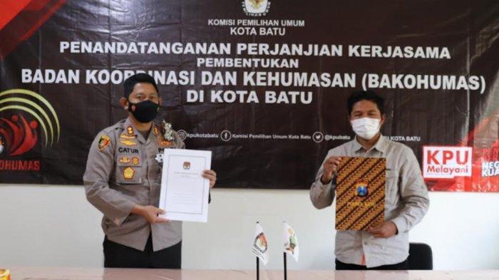KPU Batu Kerja Sama dengan Polres Batu untuk Menunjang Pelaksanaan Pemilu 2024