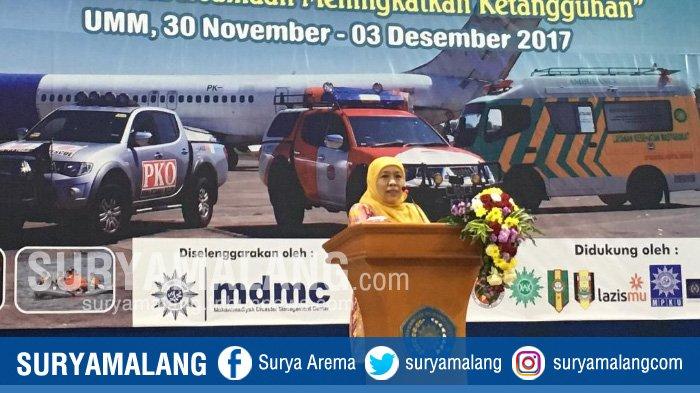 Menteri Sosial Khofifah Indar Parawansa Tutup Jambore Nasional Relawan Muhammadiyah di Malang