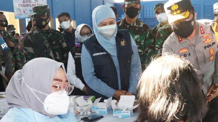 Gubernur Jatim Minta Pasokan Vaksin Dari Pusat Dipercepat Karena Antusiasme Masyarakat Makin Tinggi