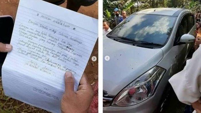 Kisah di Balik Maling Santun Kembalikan Mobil Curian, Ada Surat Wasiat Berisi Rangkaian Kata Puitis