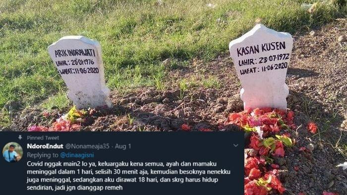 Anak di Sidoarjo Terpukul Akibat Covid-19, Ayah & Ibu Meninggal Selang 30 Menit, Esoknya Nenek Wafat