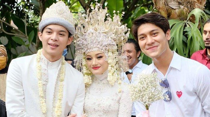 Momen Rizky Billar menghadiri pernikahan Dinda Hauw dan Rey Mbayang