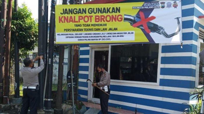 Satlantas Polresta Malang Galakan Kampanye Anti Knalpot Brong