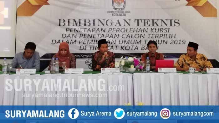 KPU Batu Tetapkan Calon Terpilih Pemilu 2019 di Batu Kamis Besok