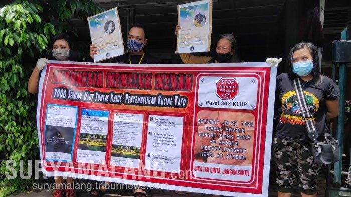 Pecinta Kucing di Malang Gelar Aksi Solidaritas untuk Kucing Tayo yang Dijagal di Medan
