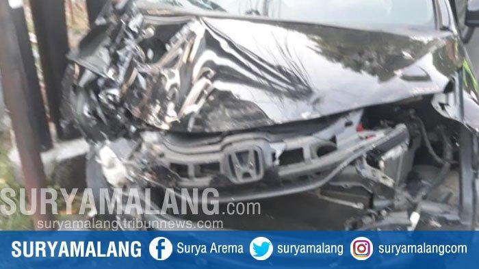 Diduga Sopir Mabuk Mobil Tabrak Sepeda Motor dan Rumah Warga di Kota Malang, Satu Korban Tewas