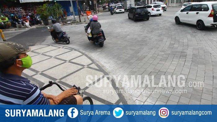 Kondisi terkini di Simpang Empat Rajabali, Kota Malang, Kota Malang